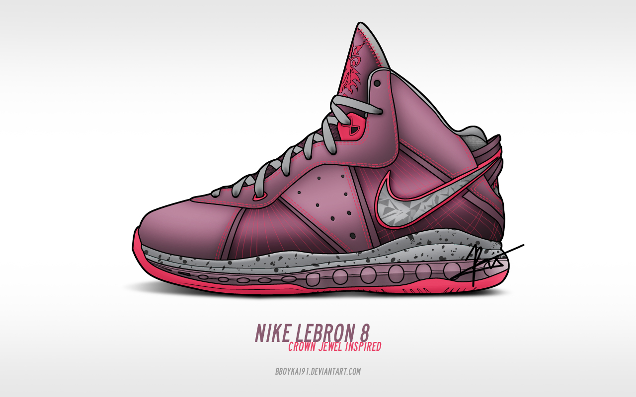 Nike Lebron 8 'Crown Jewel' by BBoyKai91