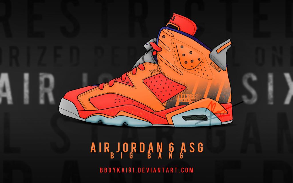 Air Jordan 6 ASG 'Big Bang' by BBoyKai91