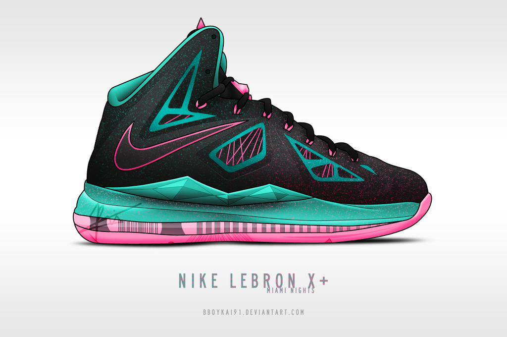 Nike Lebron X+ 'Miami Nights' by BBoyKai91