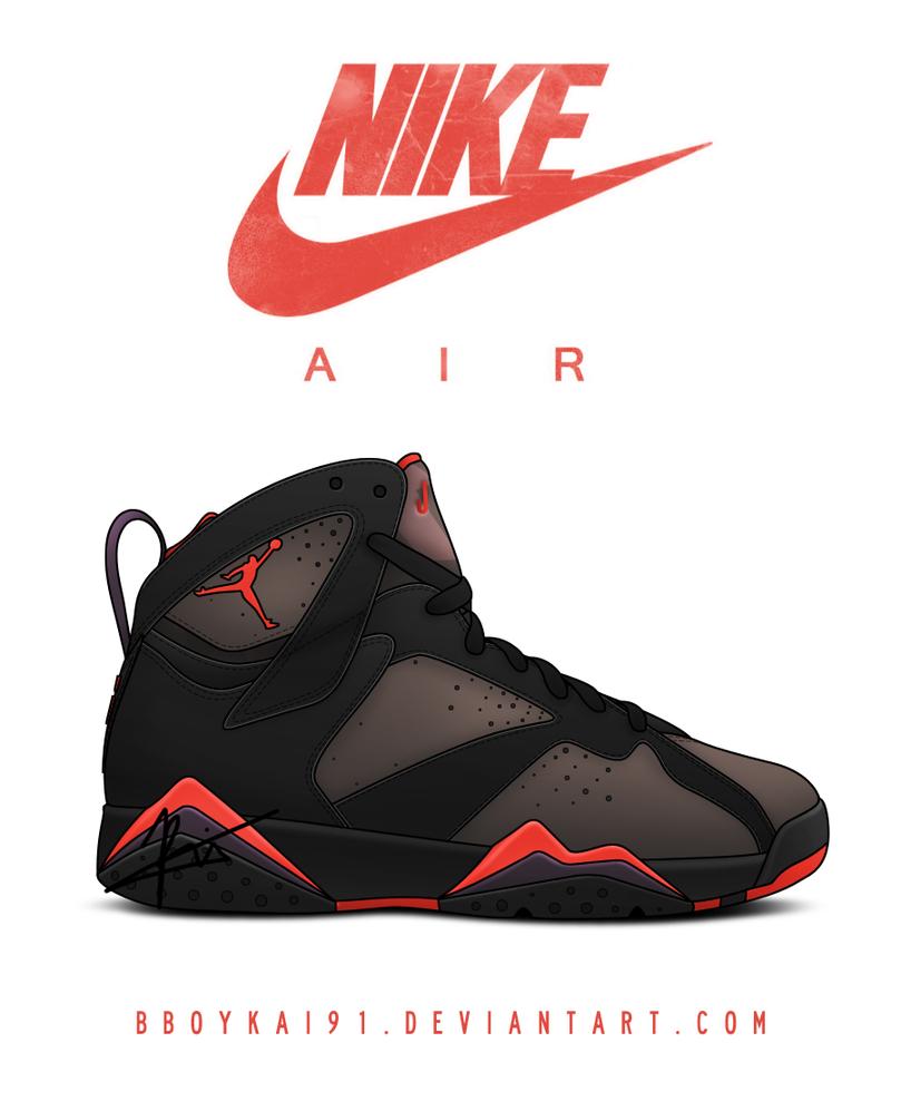 Air Jordan 7 - Air Jordan 7 Template Nikes Réduction En Ligne