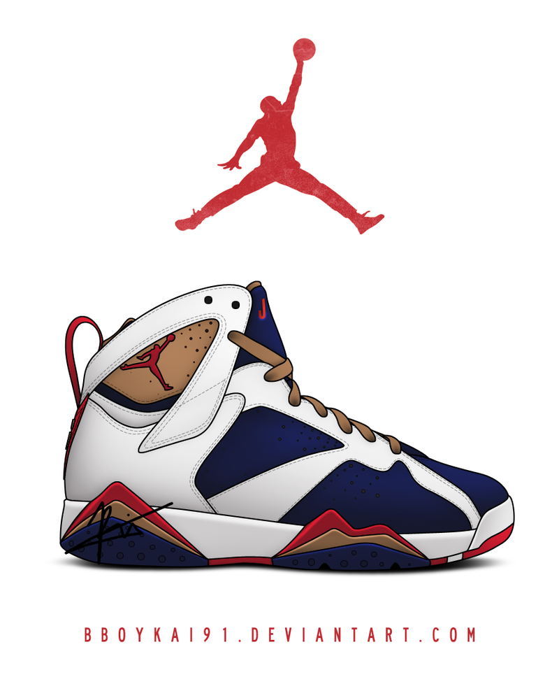 drawings of olympic 7 jordans