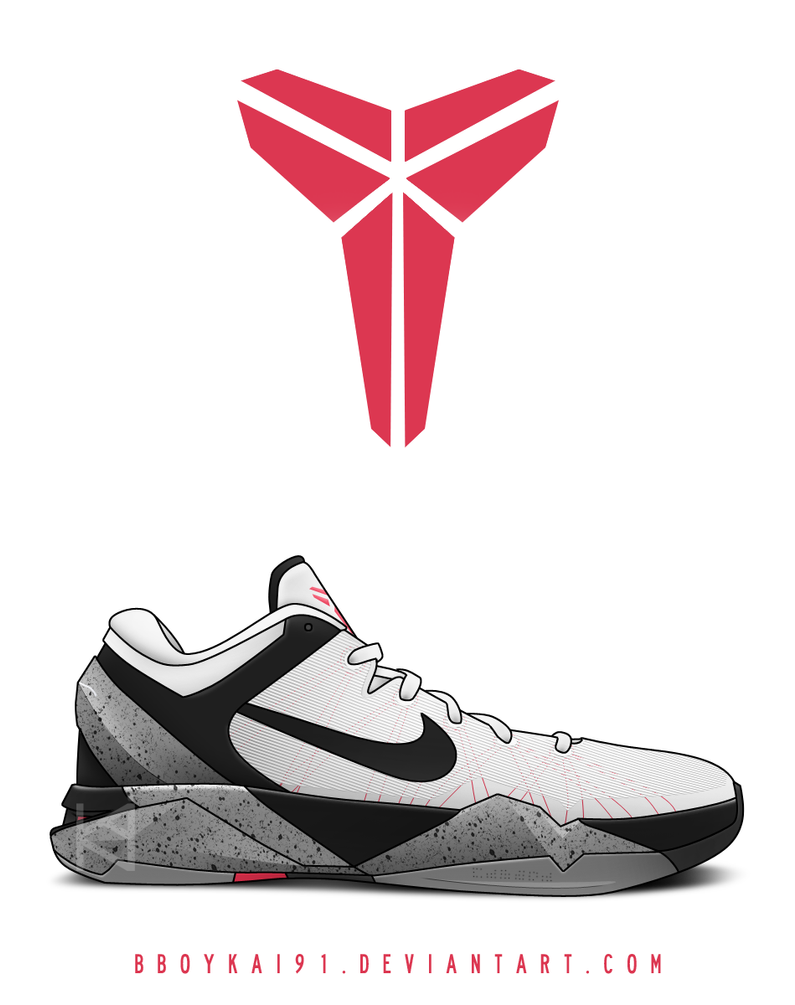 Nike Zoom Kobe VII 'White Cement' by BBoyKai91