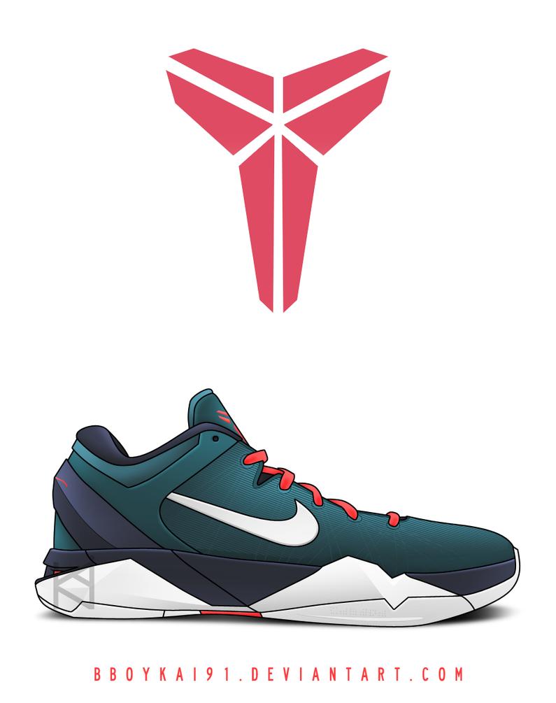 Nike Zoom Kobe VII 'Green Abyss' by BBoyKai91