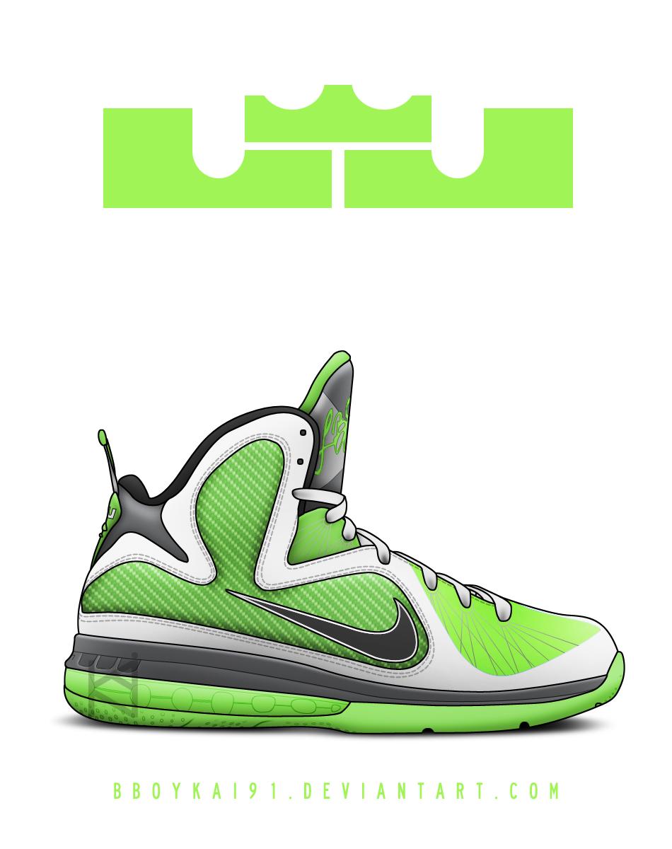Nike Lebron 9 'Alt Dunkman' by BBoyKai91