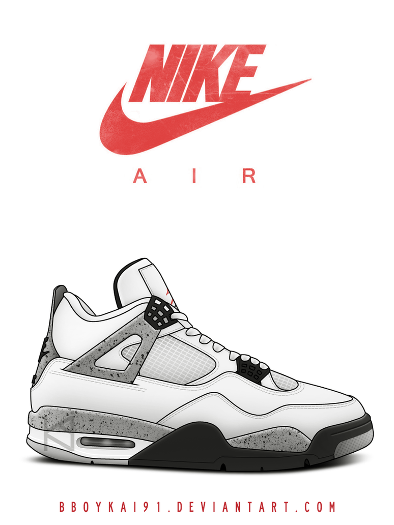 6602b42992d ... hot air jordan 4 og white cement by bboykai91 . 9ebbf 400ff