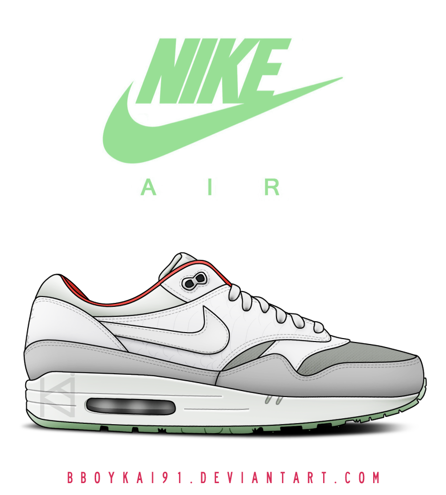 nike air max 1 photoshop template free