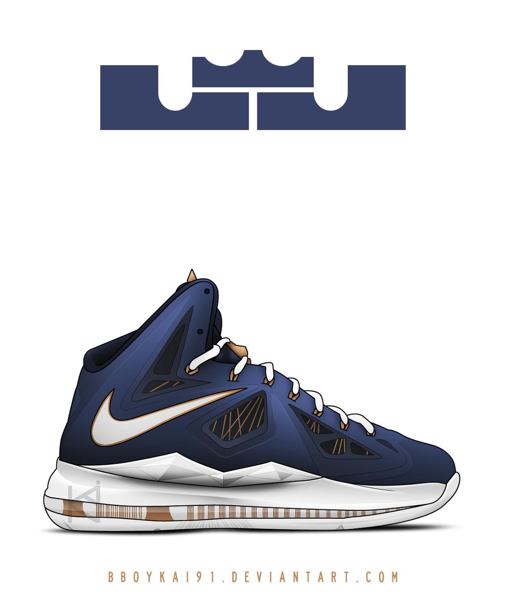 Nike Lebron X+ 'Akron' by BBoyKai91