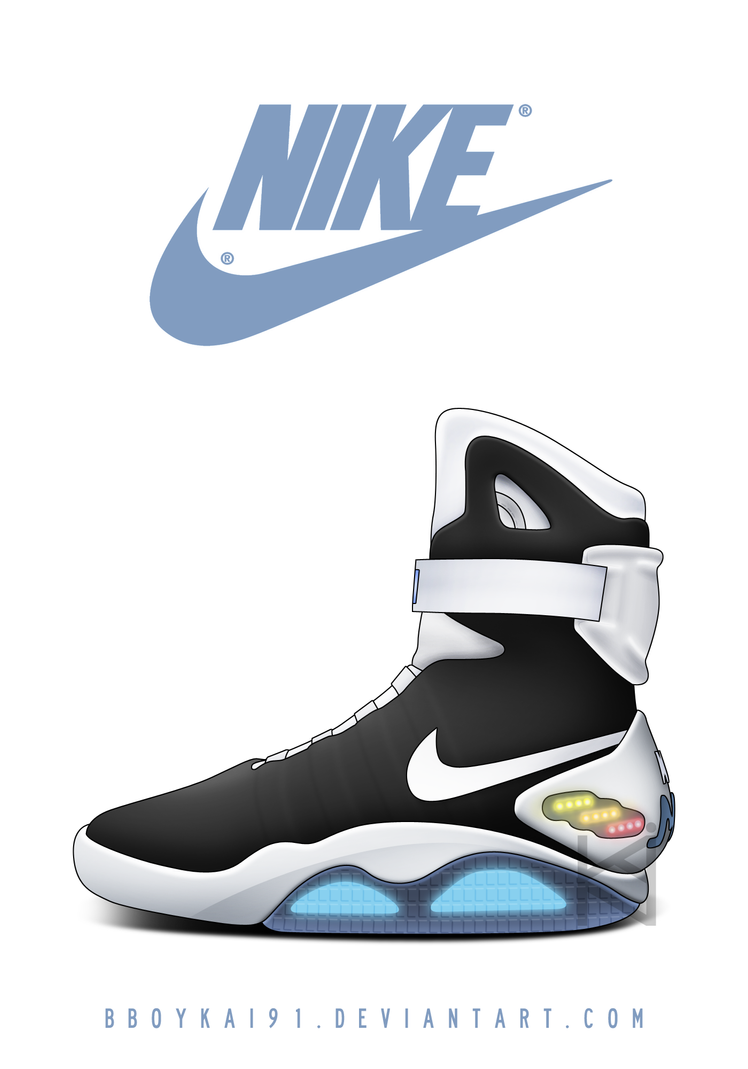 Nike MAG 'Black/White' by BBoyKai91