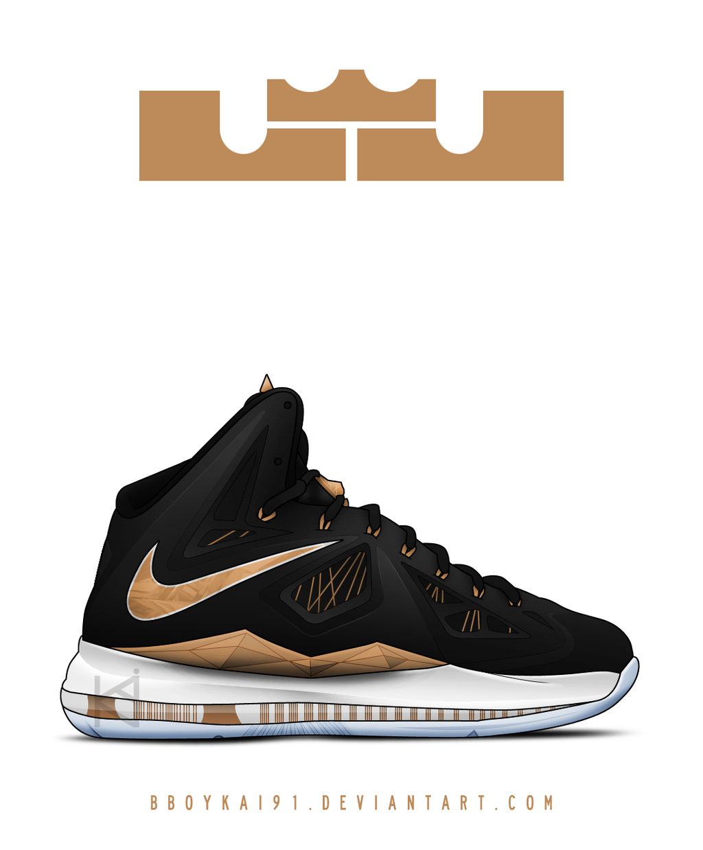 Nike Lebron X+ 'Rose Gold' by BBoyKai91