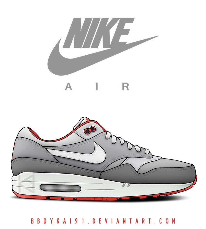 Nike Air Max 1 'Cool Grey' by BBoyKai91