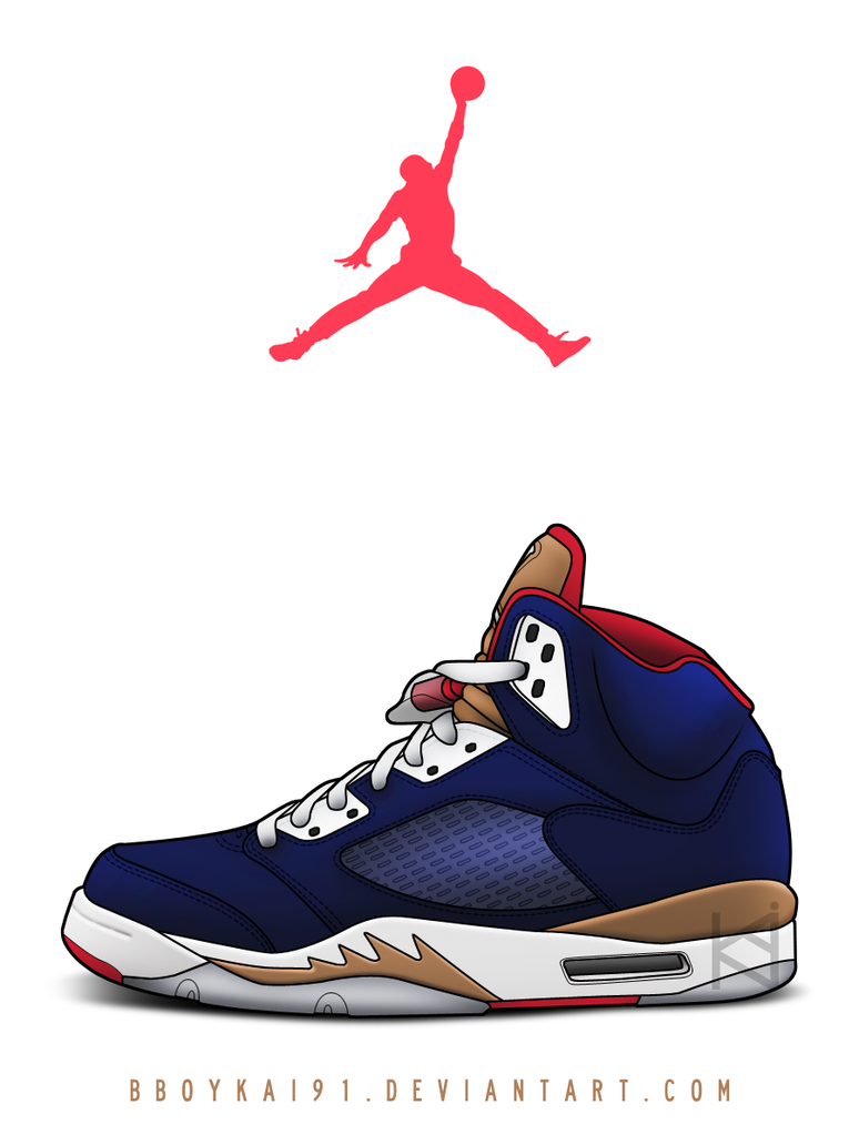 Air Jordan 5 'Alt Olympic' by BBoyKai91