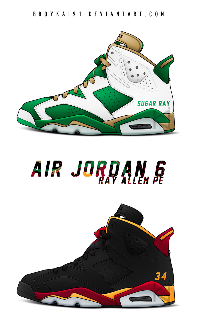 Air Jordan 6 PE 'Ray Allen' by BBoyKai91