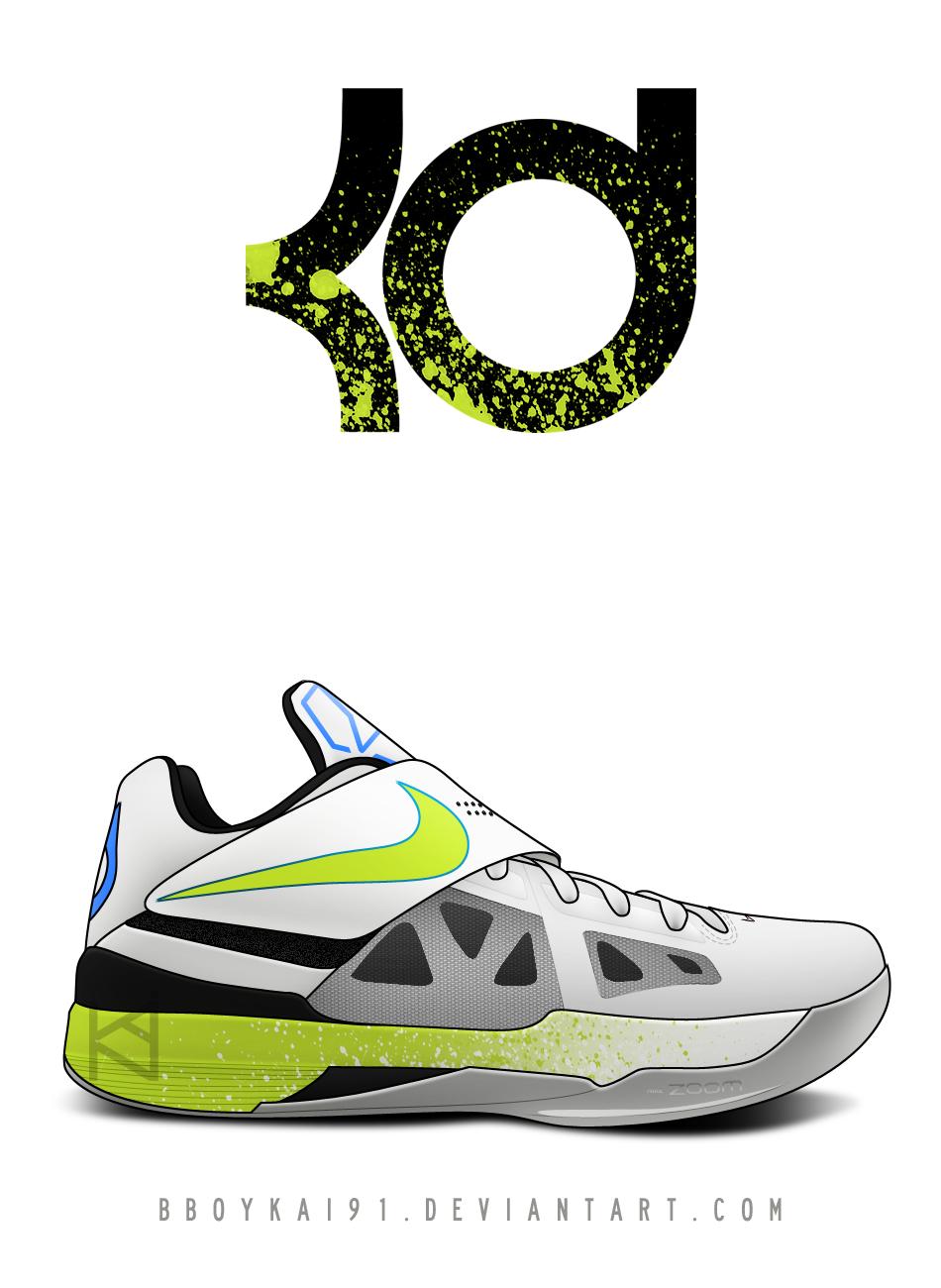 Nike Zoom KD IV 'Neon' by BBoyKai91
