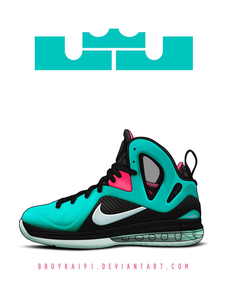 Nike Lebron 9 PS Elite 'South Beach' by BBoyKai91