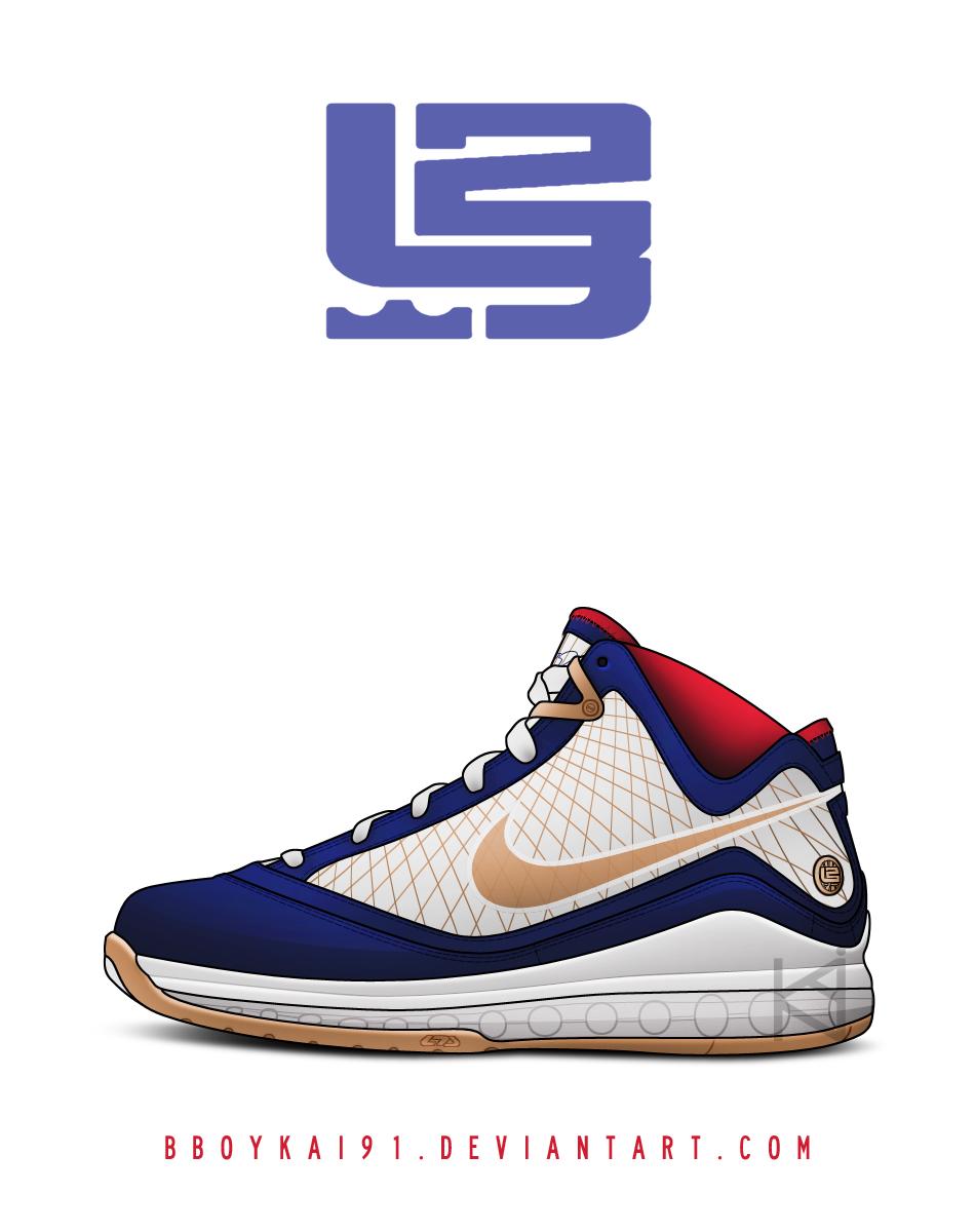 Nike Air Max Lebron 7 'USA' by BBoyKai91