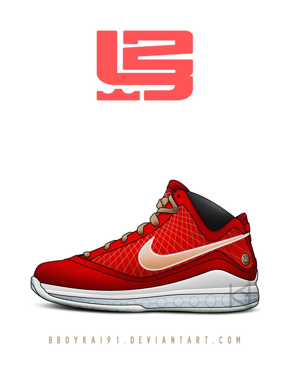Nike Air Max Lebron 7 'Gold Flake' by BBoyKai91