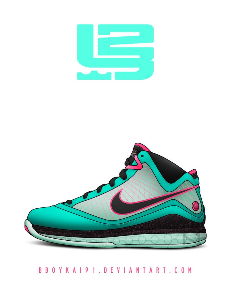 Nike Air Max Lebron 7 'South Beach' by BBoyKai91