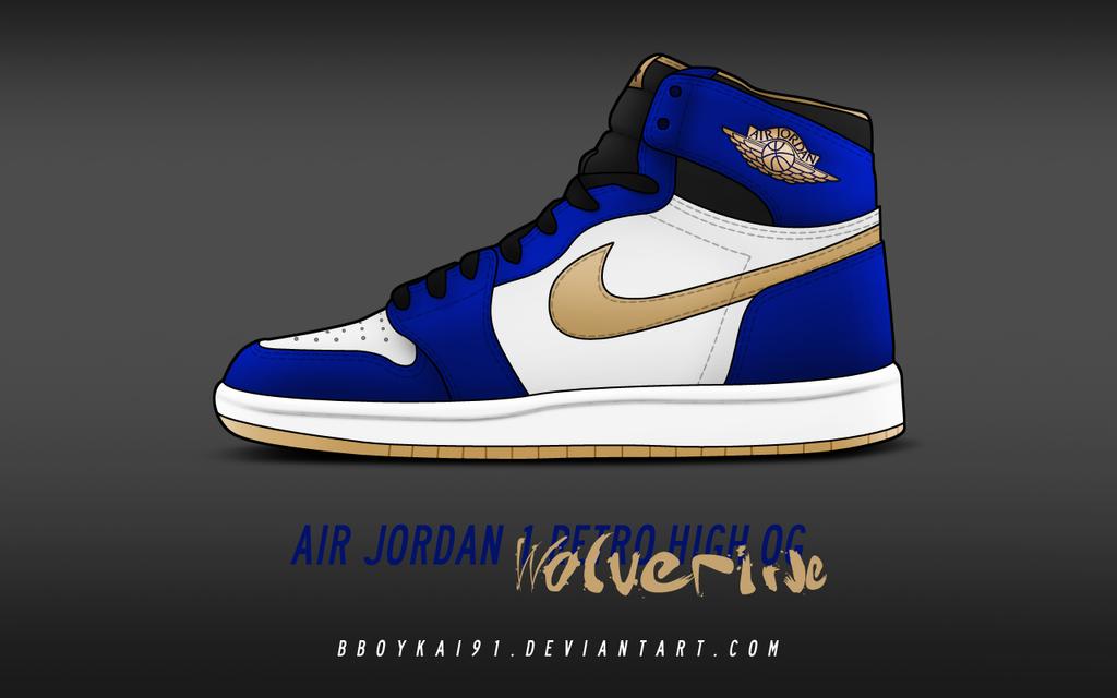 Air Jordan 1 Retro High OG 'Wolverine' by BBoyKai91