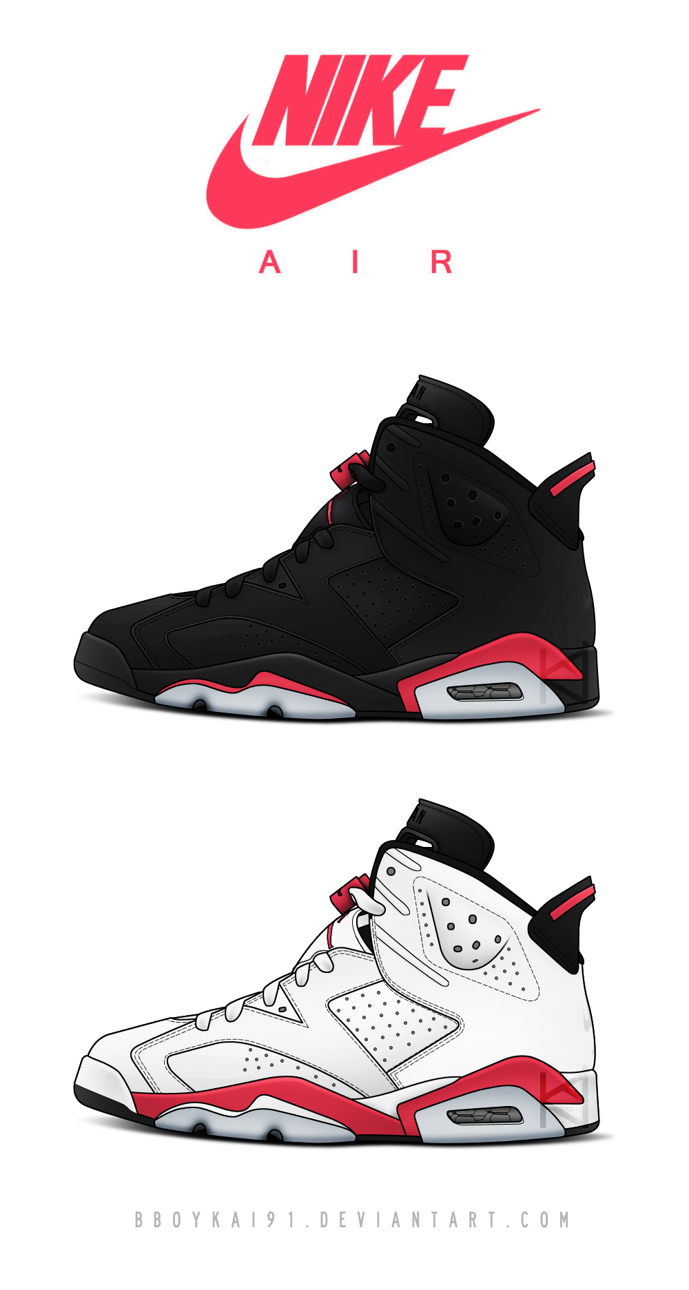 Air Jordan 6 OG 'Infrared' by BBoyKai91 on DeviantArt