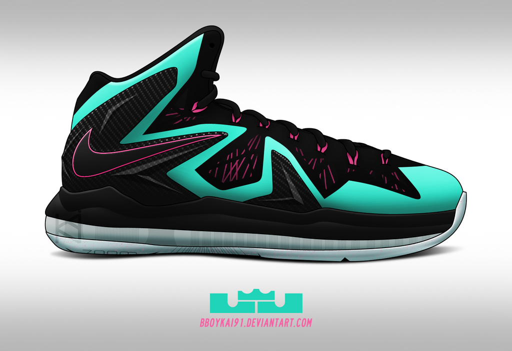 Nike Lebron X PS Elite 'South Beach' by BBoyKai91