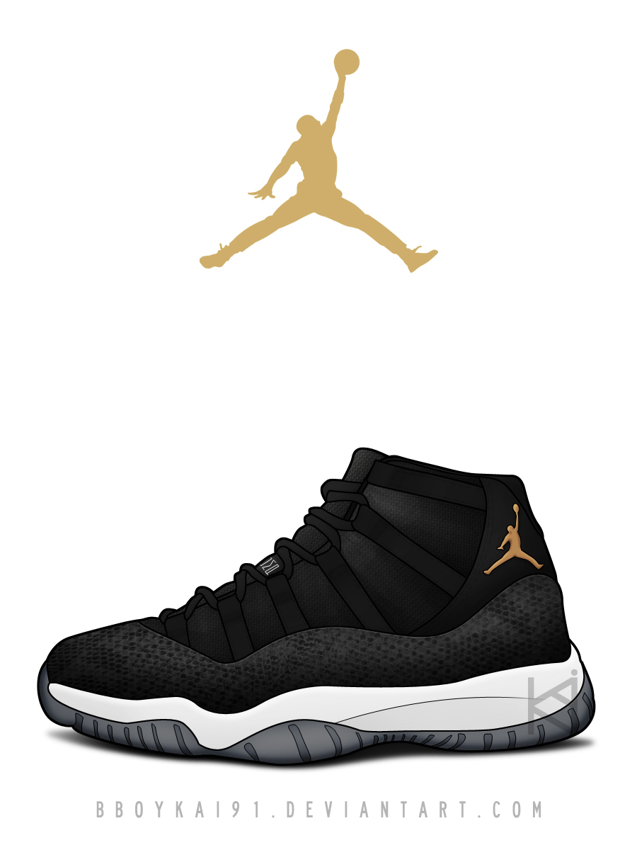quality design b66d9 b33ee ... promo code for air jordan 11 retro prm black snake by bboykai91 a23ac  563ce