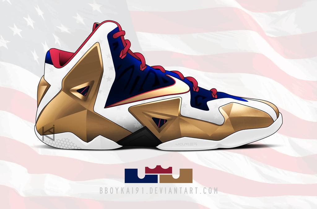 Nike Lebron XI 'Gold Medal' by BBoyKai91