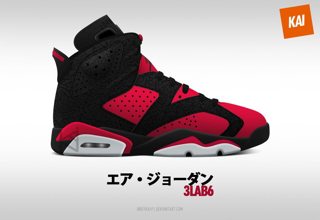 Air Jordan 3LAB6 'Carmine' by BBoyKai91