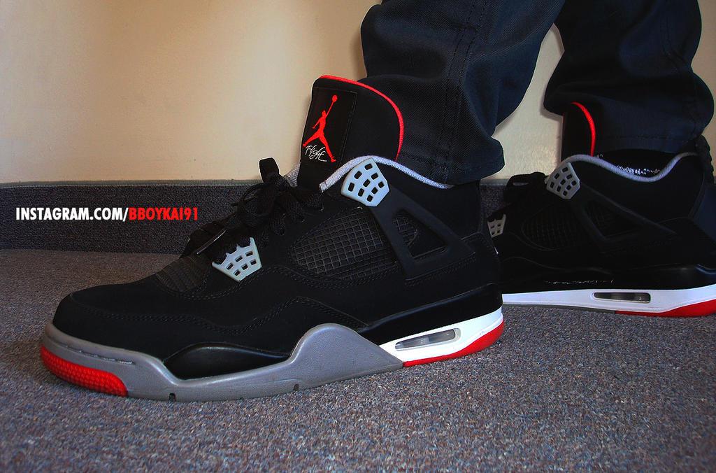 Air Jordan 4 Retro WhiteCement Air Jordan 4 Black Cement by BBoyKai91 . f78cee6929db