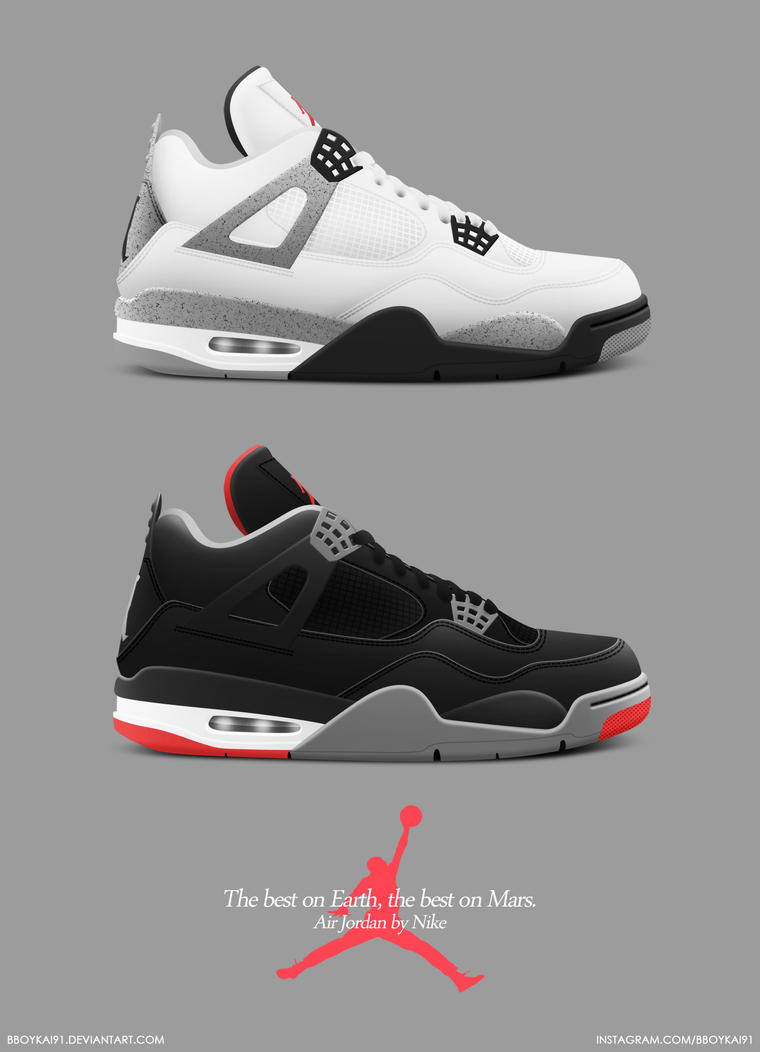 Air Jordan 4 Retro Cement By BBoyKai91