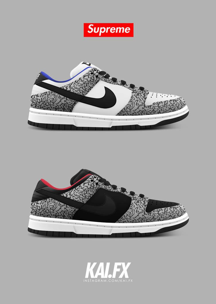 hot sales 21ed6 7666b Nike Dunk Low Pro SB 'Supreme' by BBoyKai91 on DeviantArt