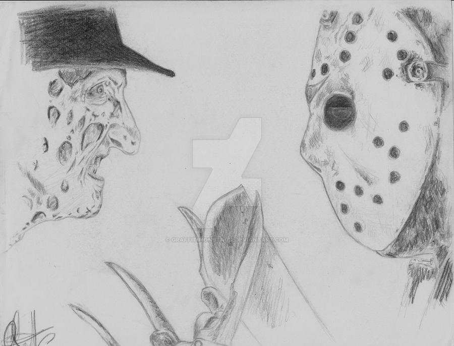 Freddy Vs Jason By Graffitimonsta012 On Deviantart Freddy Vs Jason Coloring Pages