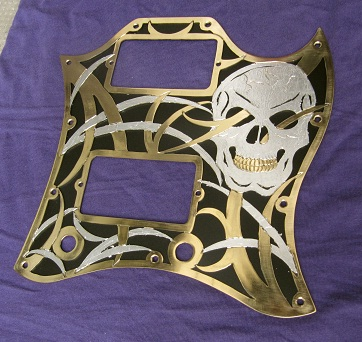 Custom metal SG pickguard by Woolf83 on DeviantArt