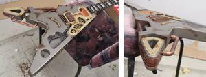 Steampunk guitar in progress 2