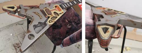 Steampunk guitar in progress 2 by Woolf83