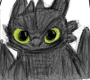 Night Fury Sketch by SkyFury128