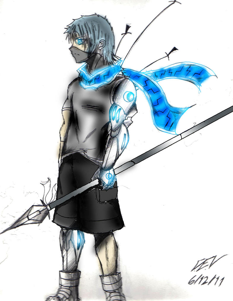 cyborg Ninja colored by ZolracV on DeviantArt