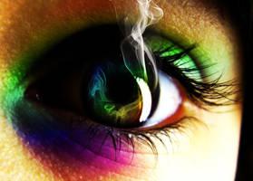 Rainbow Eye by AV571N