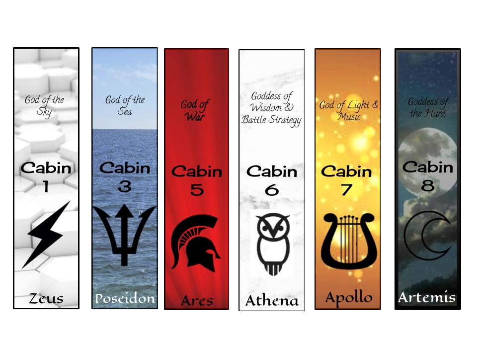 Percy Jackson Printable Bookmarks by VentusPhoenix on