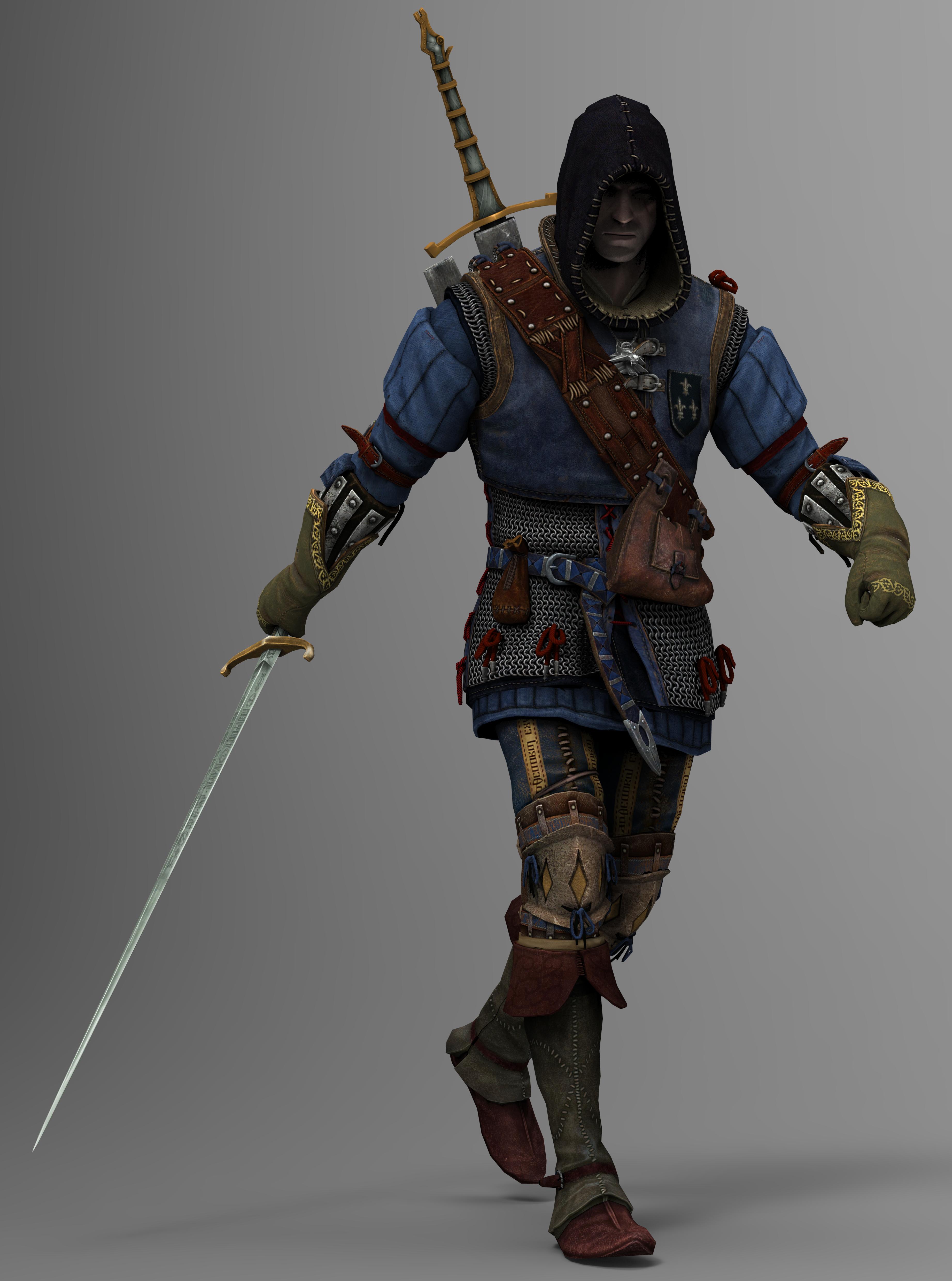 Geralt of Rivia Render 01 by TRDaz