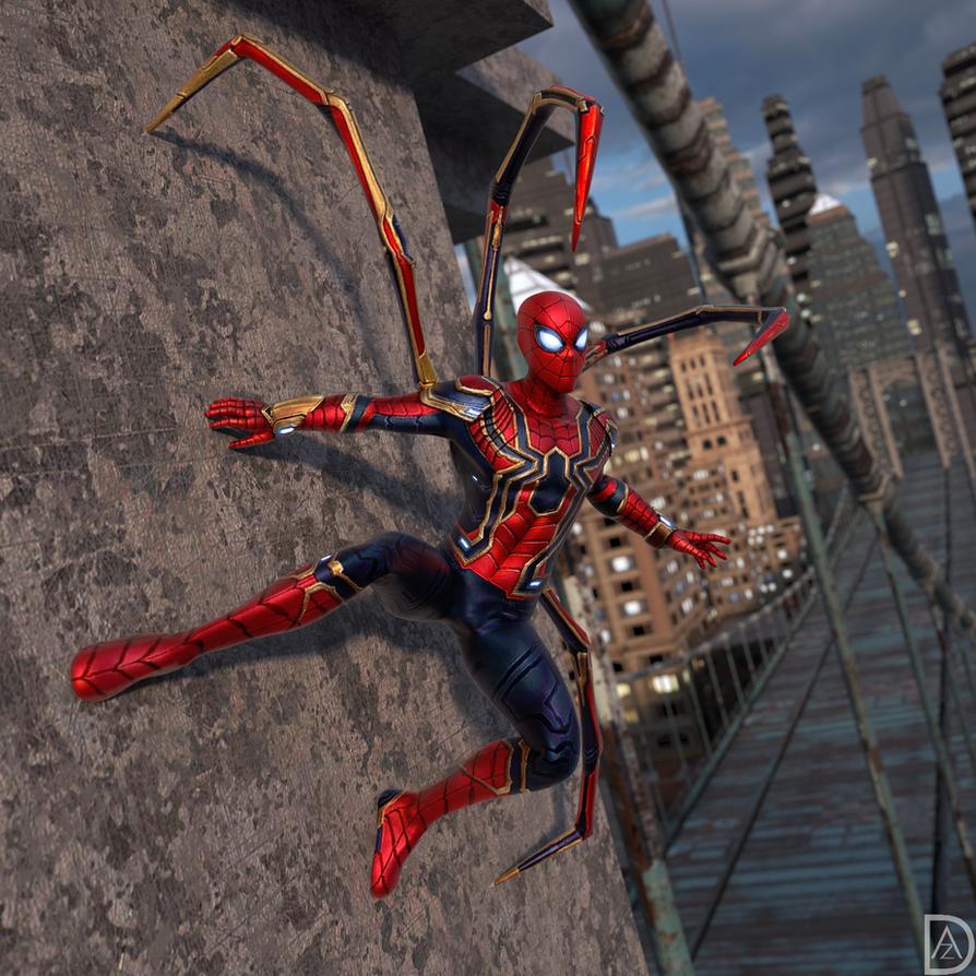 Friendly Neighborhood Iron Spider by DazzyAllen