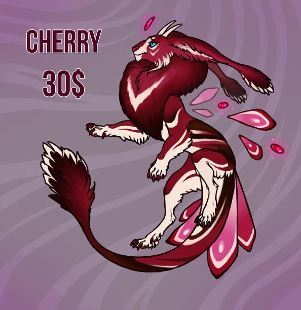 Fruit dracat adopt. Cherry. OPEN by Artist-LaiNa