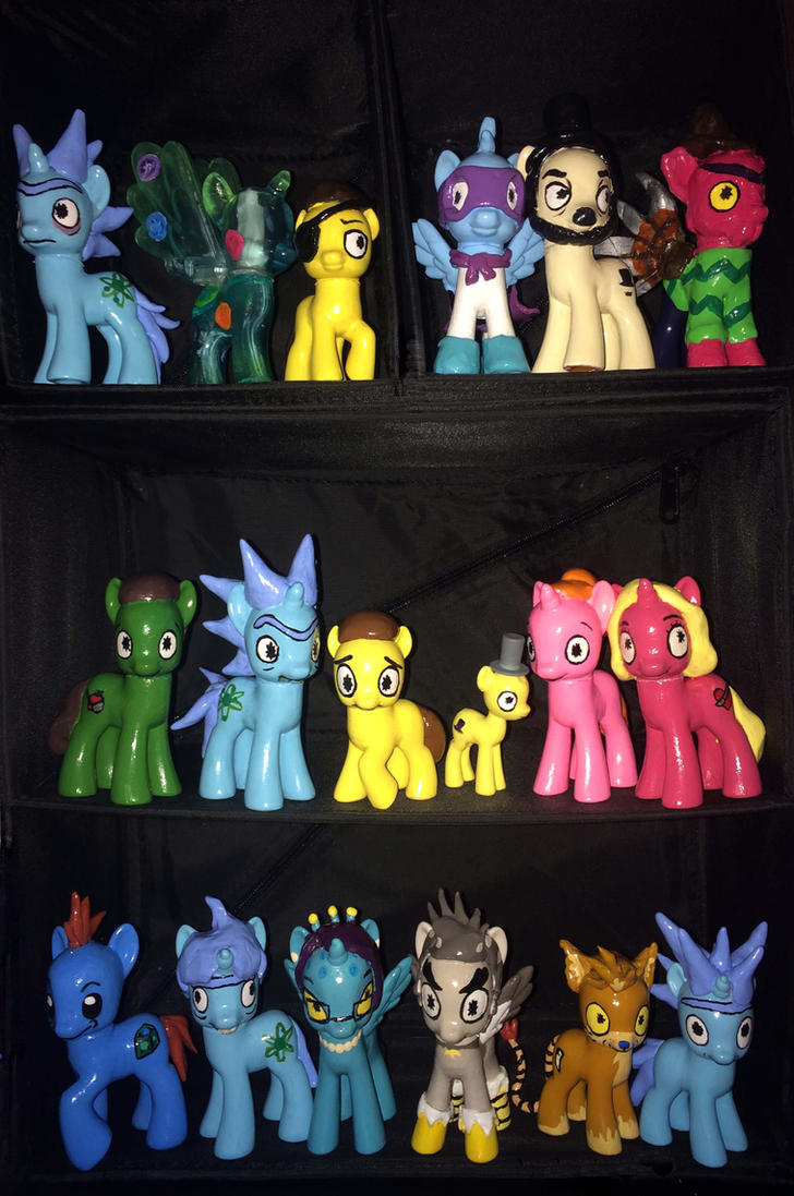 Rick and morty ponies full collection by evilunicorn97 for Rick and morty craft list