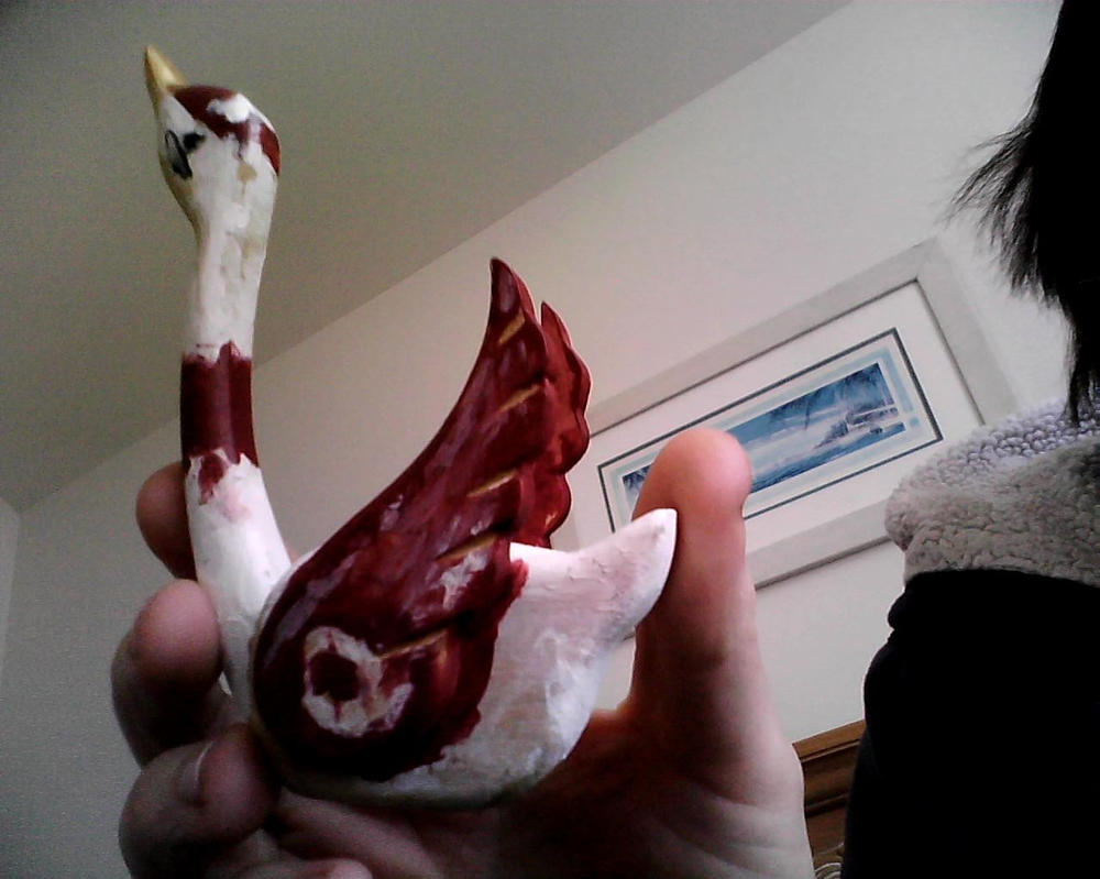 Red Wings Duck by blueeyedwoman