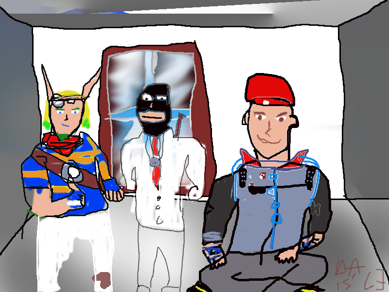 Jak, Delsin and Dr. McNinja by blueeyedwoman