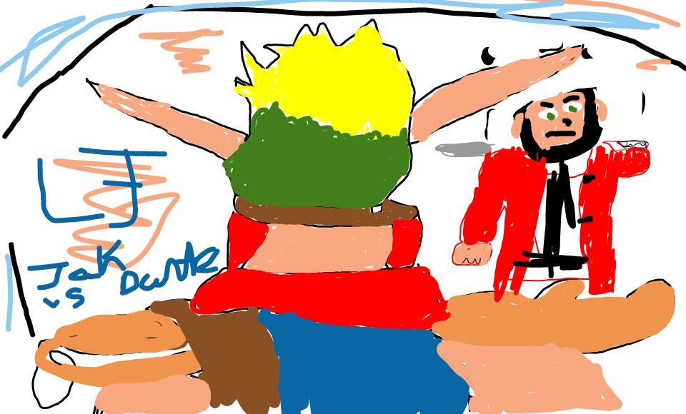 Jak vs Dante Arena fight by blueeyedwoman