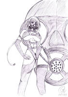 Gas Mask Sexy girl by bankgarmo