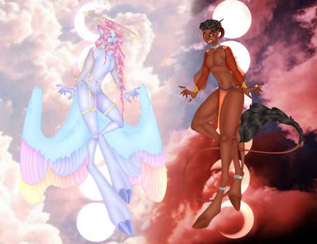 Angel and Demon Raffle! (350 watchers celebration) by SphagettiGremlin