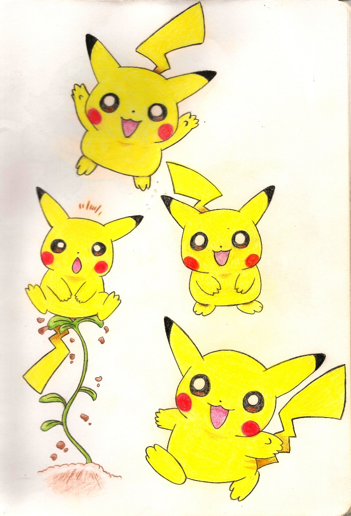 Happy Pikachu Jumping