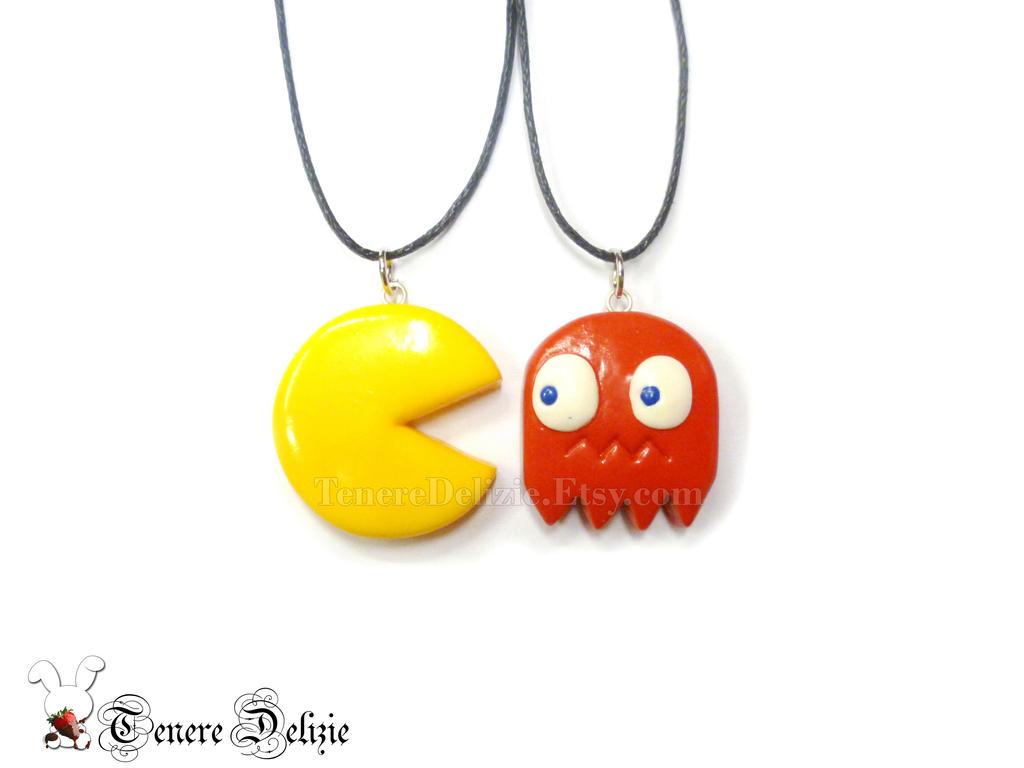 pacman best friends necklace friendship necklace by