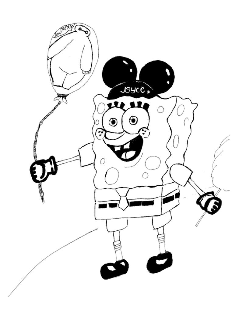 Spongebob and Baymax as balloon Request by Joyce by crazygoat20